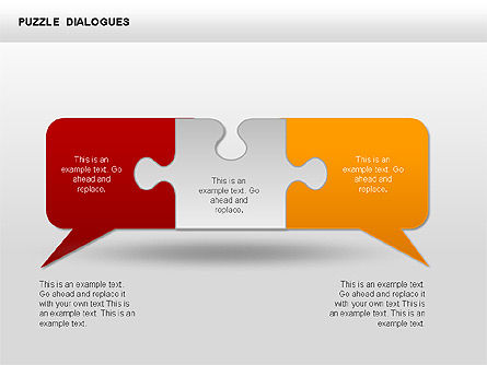 Puzzle Dialog Shapes, 00353, Puzzle Diagrams — PoweredTemplate.com