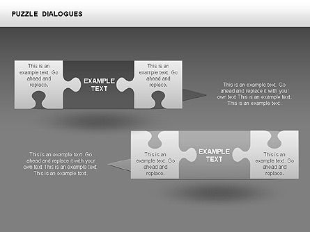 Puzzle Dialog Shapes, Slide 13, 00353, Puzzle Diagrams — PoweredTemplate.com