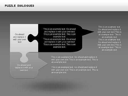 Puzzle Dialog Shapes, Slide 14, 00353, Puzzle Diagrams — PoweredTemplate.com