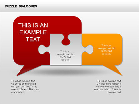 Puzzle Dialog Shapes, Slide 2, 00353, Puzzle Diagrams — PoweredTemplate.com