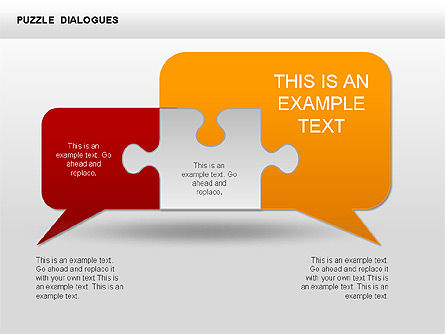 Puzzle Dialog Shapes, Slide 3, 00353, Puzzle Diagrams — PoweredTemplate.com