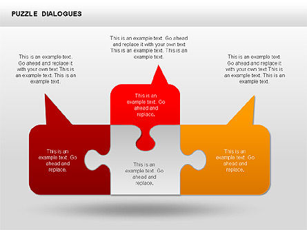 Puzzle Dialog Shapes, Slide 4, 00353, Puzzle Diagrams — PoweredTemplate.com