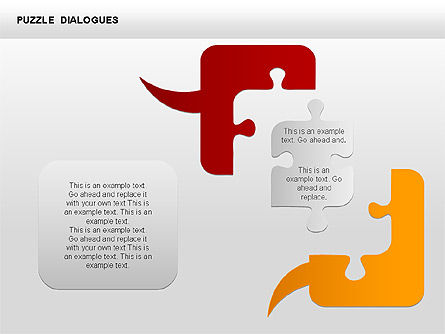 Puzzle Dialog Shapes, Slide 5, 00353, Puzzle Diagrams — PoweredTemplate.com