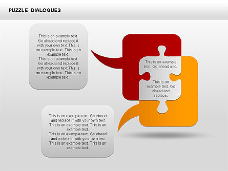 Puzzle Dialog Shapes, Slide 6, 00353, Puzzle Diagrams — PoweredTemplate.com