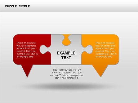 Puzzle Dialog Shapes, Slide 8, 00353, Puzzle Diagrams — PoweredTemplate.com