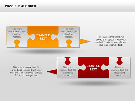 Puzzle Dialog Shapes, Slide 9, 00353, Puzzle Diagrams — PoweredTemplate.com