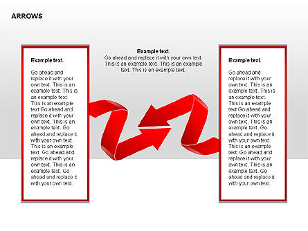 Red Arrows Collection Diagrams, Slide 2, 00354, Shapes — PoweredTemplate.com