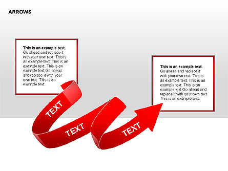 Red Arrows Collection Diagrams, Slide 3, 00354, Shapes — PoweredTemplate.com