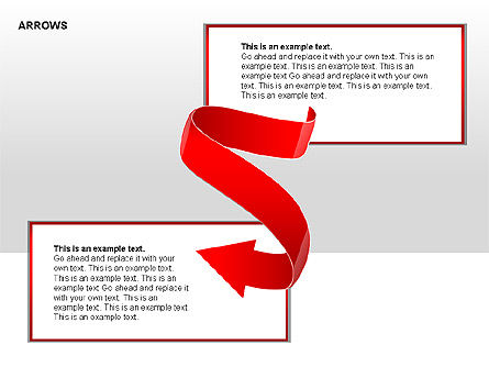 Red Arrows Collection Diagrams, Slide 4, 00354, Shapes — PoweredTemplate.com