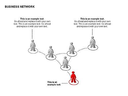 People Network Charts, Slide 10, 00356, Graph Charts — PoweredTemplate.com