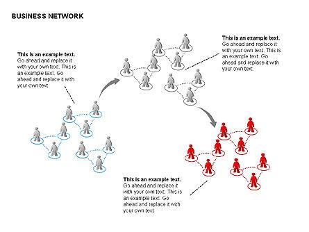 People Network Charts, Slide 11, 00356, Graph Charts — PoweredTemplate.com