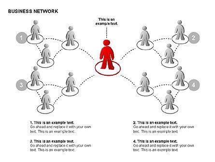 People Network Charts, Slide 12, 00356, Graph Charts — PoweredTemplate.com
