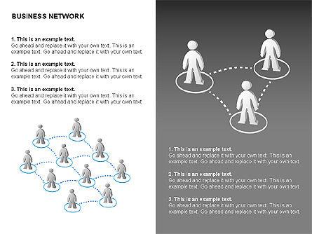 People Network Charts, Slide 13, 00356, Graph Charts — PoweredTemplate.com
