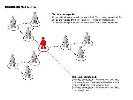 People Network Charts, Slide 5, 00356, Graph Charts — PoweredTemplate.com