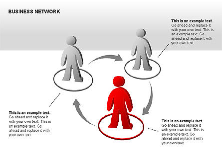 People Network Charts, Slide 6, 00356, Graph Charts — PoweredTemplate.com