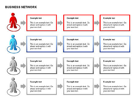 People Network Charts, Slide 8, 00356, Graph Charts — PoweredTemplate.com