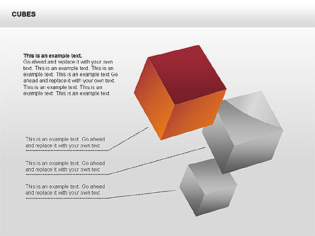 Shapes: 3D Perspective Cubes Collection #00358