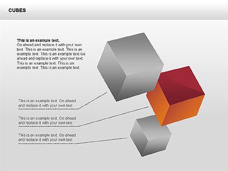 3D Perspective Cubes Collection, Slide 2, 00358, Shapes — PoweredTemplate.com