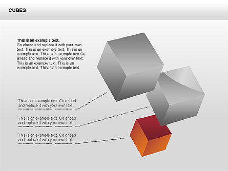 3D Perspective Cubes Collection, Slide 3, 00358, Shapes — PoweredTemplate.com