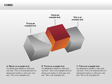 3D Perspective Cubes Collection Slide 4