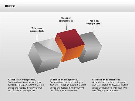 3D Perspective Cubes Collection, Slide 4, 00358, Shapes — PoweredTemplate.com