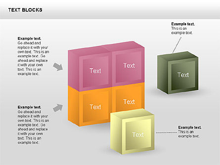 Text Blocks Shapes Collection Slide 3