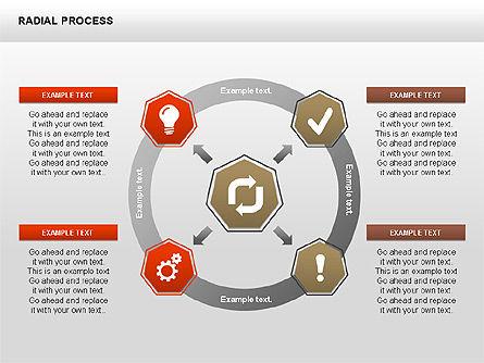 Radial Process Charts, Slide 10, 00360, Process Diagrams — PoweredTemplate.com