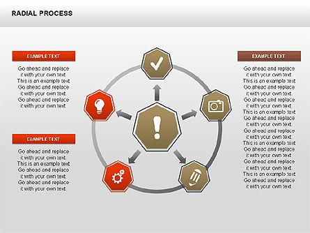 Radial Process Charts, Slide 11, 00360, Process Diagrams — PoweredTemplate.com