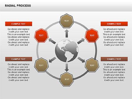 Radial Process Charts, Slide 12, 00360, Process Diagrams — PoweredTemplate.com