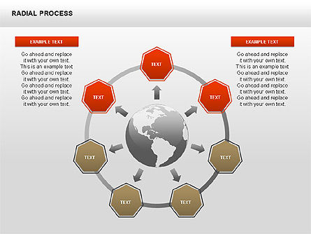 Radial Process Charts, Slide 13, 00360, Process Diagrams — PoweredTemplate.com