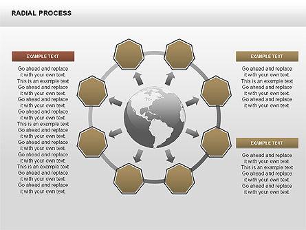 Radial Process Charts, Slide 14, 00360, Process Diagrams — PoweredTemplate.com