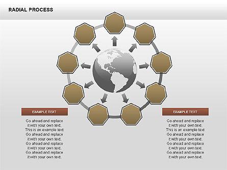 Radial Process Charts, Slide 15, 00360, Process Diagrams — PoweredTemplate.com