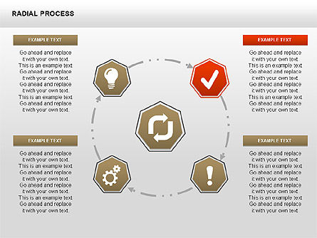 Radial Process Charts, Slide 2, 00360, Process Diagrams — PoweredTemplate.com