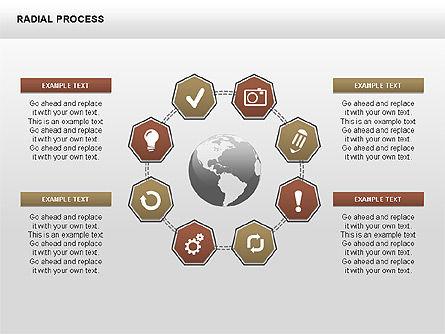 Radial Process Charts, Slide 6, 00360, Process Diagrams — PoweredTemplate.com