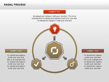 Radial Process Charts, Slide 9, 00360, Process Diagrams — PoweredTemplate.com