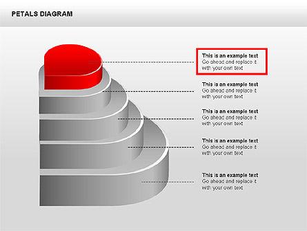 3D Petals Diagram, Slide 10, 00362, Stage Diagrams — PoweredTemplate.com