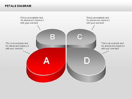 3D Petals Diagram, Slide 6, 00362, Stage Diagrams — PoweredTemplate.com