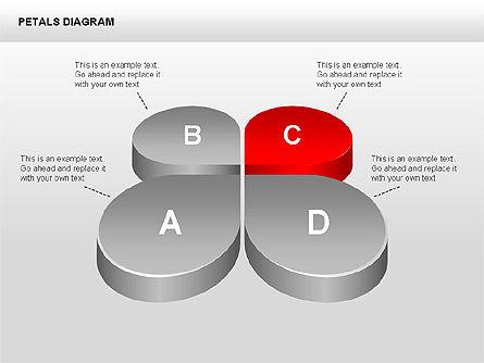 3D Petals Diagram, Slide 8, 00362, Stage Diagrams — PoweredTemplate.com