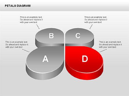 3D Petals Diagram, Slide 9, 00362, Stage Diagrams — PoweredTemplate.com