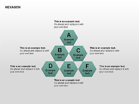Shapes: Hexagon Letters Diagram #00366