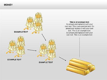 Free Money Shapes, Slide 10, 00367, Process Diagrams — PoweredTemplate.com