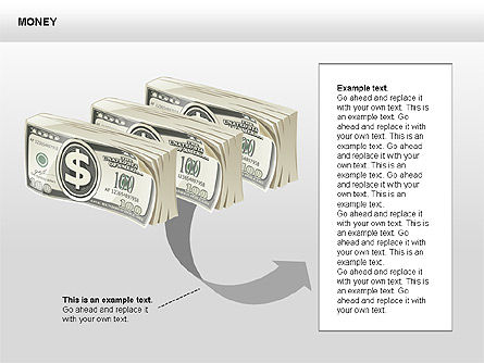 Free Money Shapes, Slide 11, 00367, Process Diagrams — PoweredTemplate.com