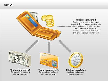Free Money Shapes, Slide 12, 00367, Process Diagrams — PoweredTemplate.com