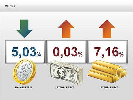 Free Money Shapes, Slide 13, 00367, Process Diagrams — PoweredTemplate.com