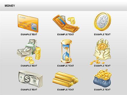 Free Money Shapes, Slide 15, 00367, Process Diagrams — PoweredTemplate.com