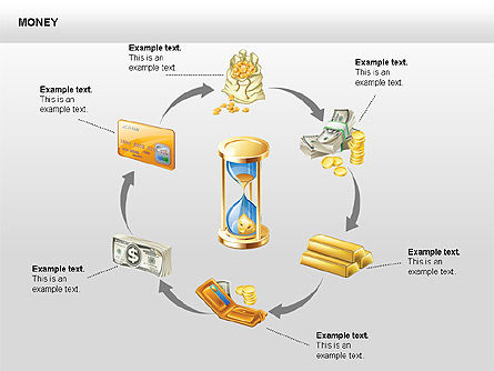 Free Money Shapes, Slide 4, 00367, Process Diagrams — PoweredTemplate.com