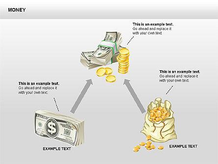 Free Money Shapes, Slide 5, 00367, Process Diagrams — PoweredTemplate.com