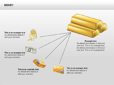 Free Money Shapes, Slide 6, 00367, Process Diagrams — PoweredTemplate.com