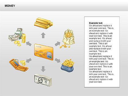 Free Money Shapes, Slide 7, 00367, Process Diagrams — PoweredTemplate.com