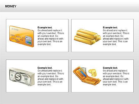 Free Money Shapes, Slide 8, 00367, Process Diagrams — PoweredTemplate.com